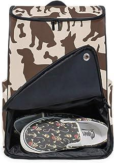 DEZIRO - Mochila para portátil con silueta de huesos de perro, bolsa de viaje para mujer y hombre, mochila de negocios.