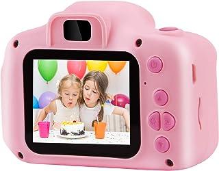PROGRACE 子供用デジタルカメラ トイカメラ 写真 動画 連写 タイマー撮影 2.0インチIPS画面 一眼レフ キッズカメラ 子供用カメラ ミニカメラ 子供プレゼント 日本語説明書付き (ピンクSDカード付属)