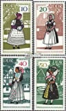 Prophila Collection DDR 1353-1356 (kompl.Ausgabe) 1968 Volkstrachten (Briefmarken für Sammler) Uniformen / Trachten