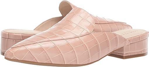 Mahogany Rose Croc Print Leather