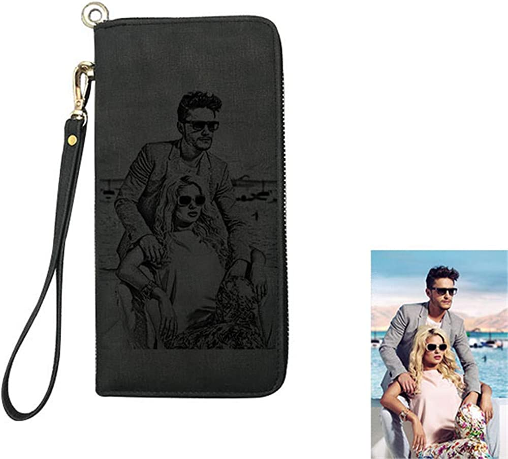 Personalized Photo Wallet Women Clutch Leather wit Sales for sale Max 62% OFF
