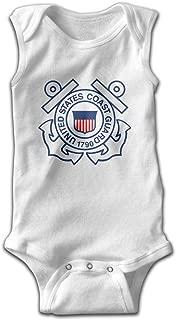 Cute Kids Baby Boys Girls US Coast Guard Tshirt Bodysuits Clothes Sleeveless Shirts Jumpsuit Romper T Shirt