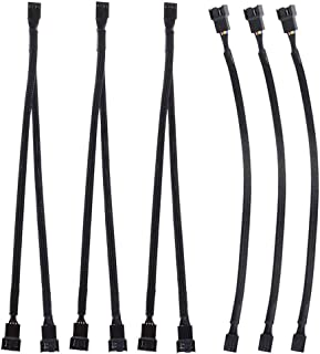 YUPVM 6 Pieces PWM Extension Cable, 4 Pin PWM Fan Extension Cable, PWM Fan Y Cables, PWM Fan Splitter