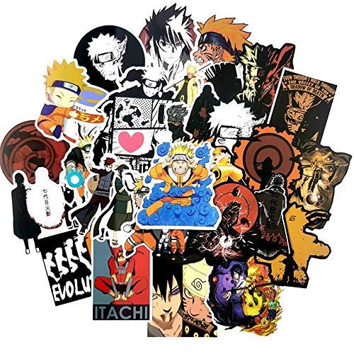 /Lot Juguetes para Niños Naruto Pegatinas Laptop Skateboard Pegatina Juguete Para Niños Graffiti Impermeable Pegatinas Pack Juguetes 50pcs