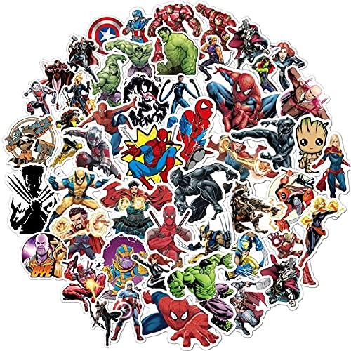 Teens Hero Stickers [ 100PCS ] Vinyl Waterproof Disney Stickers Pack for Laptop, Water Bottles, Helmet, Marvel Comic Legends Stickers Decals with Party Supplies Favors for Kids Teens Gift