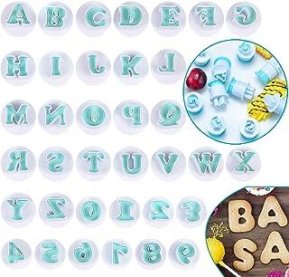 Emporte Pièce Lettre, Alphabet Fondant Cutter Moule à Gâteau, Découpoirs à Frapper de Alphabet Bricolage pour Décoration d...