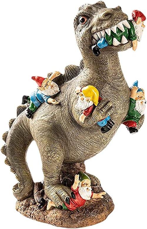 Dinosaur Eating Gnome Inexpensive Garden Decor St Outdoor Philadelphia Mall Funny