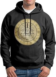 Rebecca-P Men Gravity Falls Casual Style Hoodie Hooded Sweatshirt M Black