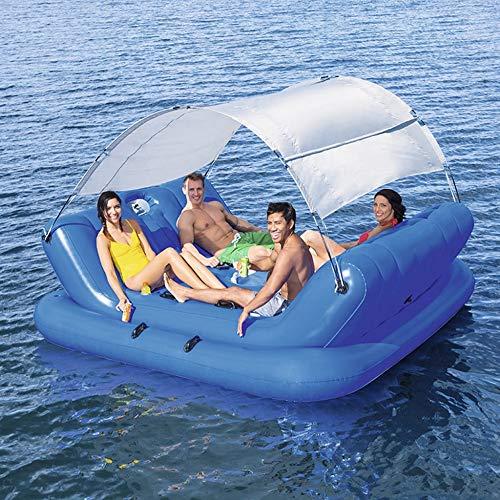 QVQV Pool Party Float Grande Letto Galleggiante A File Galleggiante Ocean Park Chaise Longue Riposo Galleggiante Gioco Gonfiabile Isola Galleggiante Multi-Persona
