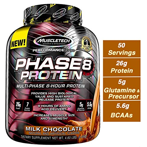 MuscleTech Phase8 Whey Protein Powder Blend, Sustained Release 8-Hour...