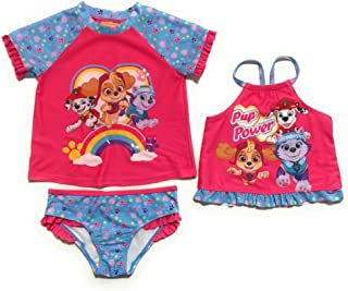 Paw Patrol Toddler Girls' Rash Guard and Tankini Set (Size 2T) Pink