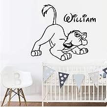 stickers muraux 3d stickers muraux chambre Autocollant personnalis/é nomm/é Roi Roi Lion par Simba pour la chambre de b/éb/é de chambre denfants de gar/çons