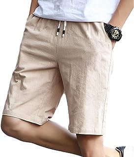 【ノギ】 ハーフ パンツ 無地 メンズ シンプル ウエスト ゴム ヒモ ポケット 付き ズボン カジュアル ボトムス st0157