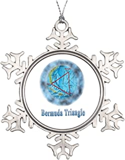 Funny ship Sci Fi Personalised Christmas Tree Decoration Bermuda Triangle Mystery Garden Snowflake Ornaments Bermuda Triangle