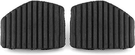 Qiilu 2 piezas cubierta de goma del pedal de freno del embrague