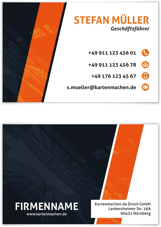500 x Visitenkarten individuell Business Karten 300g qm 85 x 55 mm - Finanzberater B07F78T49Y | Qualitätsprodukte
