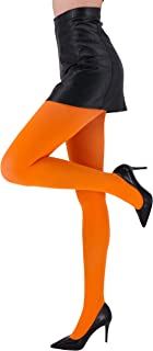 Women's 80D Soft Solid Color Semi Opaque Footed Tights