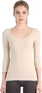 NIKIBIKI Womens Seamless Scoop Neck Three Quarter Sleeve Top