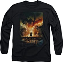Long Sleeve: The Hobbit: The Battle of the Five Armies - Smaug Poster Longsleeve Shirt Size L