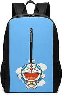 Mochila 17 Pulgadas, Flying Doraemon Bolso Grande para computadora portátil Viaje Senderismo Mochila para Hombres Mujeres Trabajo Escolar
