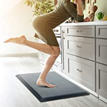 Anti Fatigue Mat Kitchen Comfort Standing Mat for Desk - Thick Waterproof Durable Pad - Non Slip Bottom Cushion Comfort at...