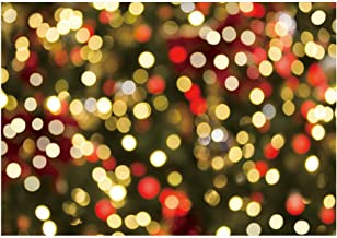 Funnytree 7x5ft Christmas Glitter Bokeh Halos Photography Backdrop Merry Xmas Winter Sparkle Neon Spots Background for Baby Shower Birthday Party Sparkle Selfie Portrait Photo Booth Studio Banner