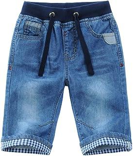 Happy Cherry Pantalones Cortos de Mezclilla para Niños con Bolsillos Jean Bermuda Pantalones de Jean de Corta Edad con Cor...