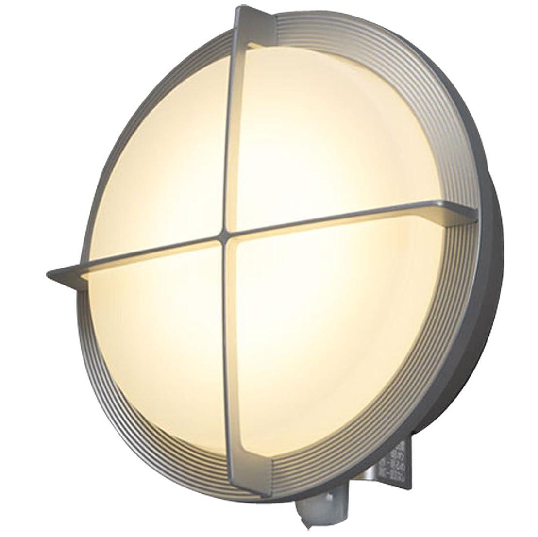 ベルトただ削除するアイリスオーヤマ LEDポーチ灯 人感センサー付き シルバー 電気工事必要 IRBR5N-CIGRS-MSBS-P
