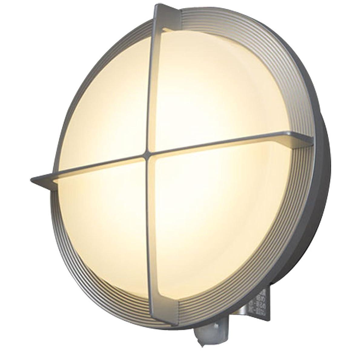鍔不誠実エクステントアイリスオーヤマ LEDポーチ灯 人感センサー付き シルバー 電気工事必要 IRBR5N-CIGRS-MSBS-P