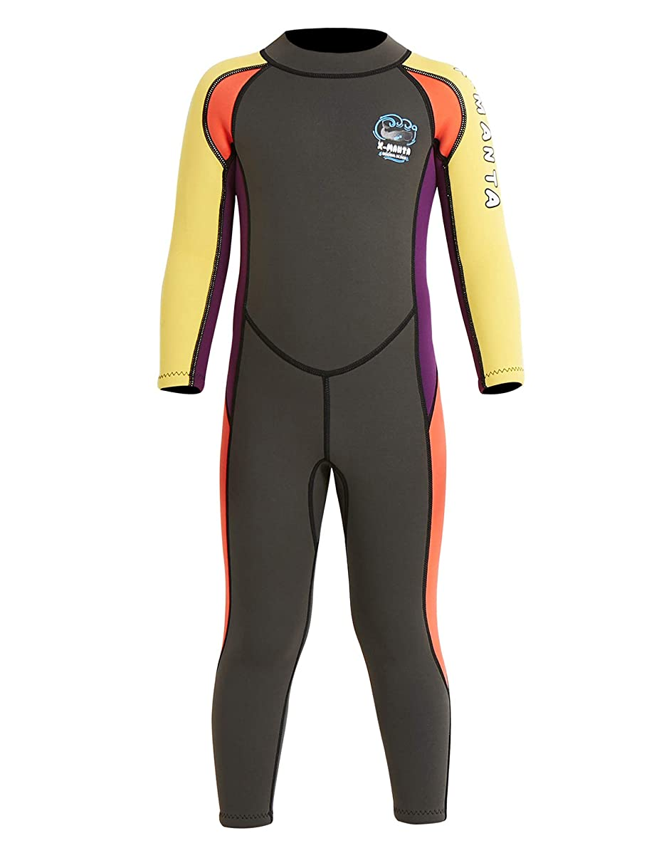 DIVE & SAIL Kids Wetsuit 2.5mm Neoprene Keep Warm for Diving Swimming Canoeing UV Protection