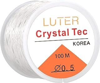 LUTER Klar Pärlband Kristall Elastiskt Stretchigt Armband Sträng för Smycken Att göra Halsband Armband Pärlor Tråd 0.5mm