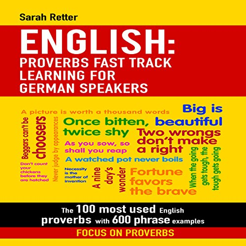 English: Proverbs Fast Track Learning for German Speakers Titelbild