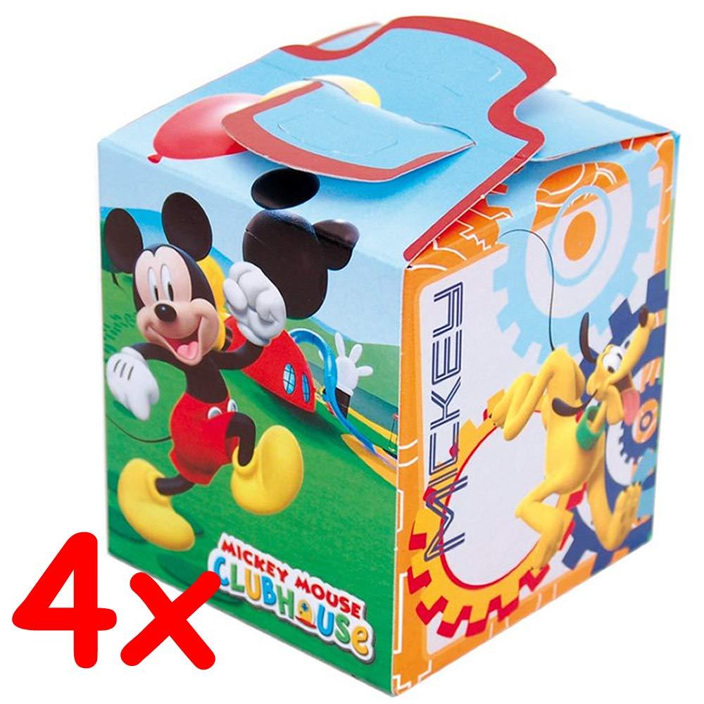 4 cajas de regalo de cartón * Mickey Mouse Club House * De Disney // CONO