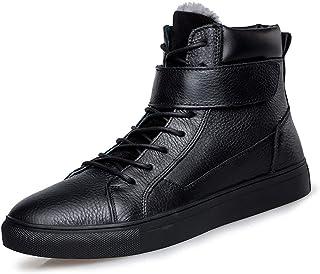 c8d917a1ec5 YAN Botas De Cuero De Los Hombres Otoño & Invierno Moda Alta Cubierta  Zapatos Casuales De