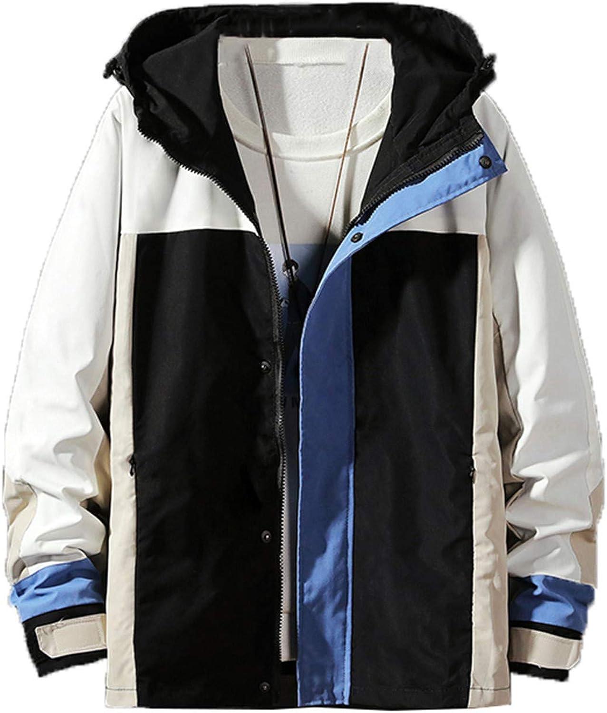 Tealun Spring Autumn Patchwork Streetwear Bomber Jackets Men Hooded Casual Loose Windbreaker Jacket Male Hip Hop Coat