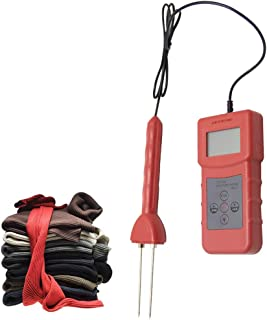 Huanyu Textile Moisture Meter Humidity Meter 4% to 90% Pin Type Damp Detector Water Content Analyzer for Cotton/Yarn spindles/Woolen/Silk/Hemp/Reclaimed oil top(MS-C)