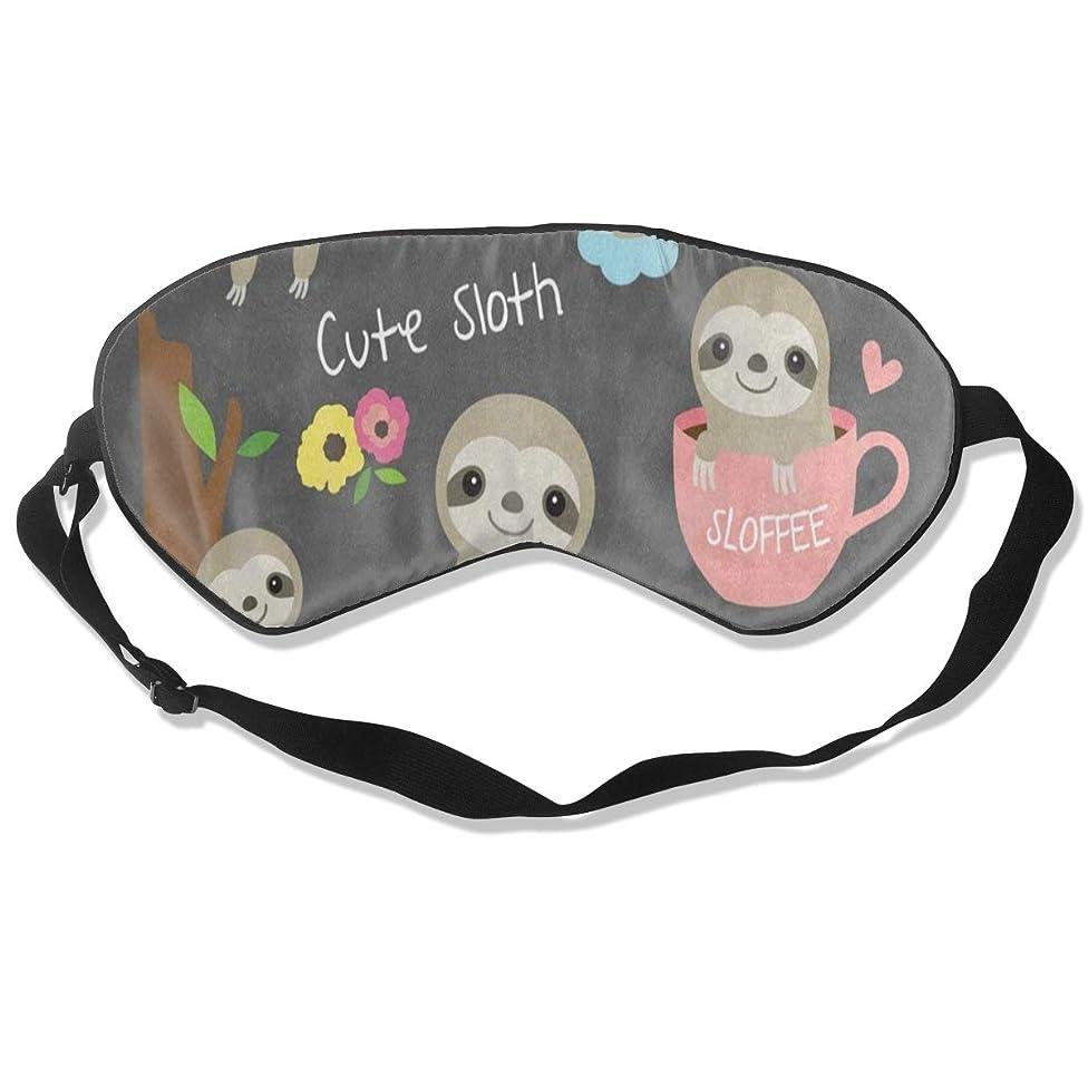 Eye Mask Ute Sloth Floral Rainbow Tree Soft Eye Cover for Sleeping Travel Blindfold for Women Men Comfy and Lightproof