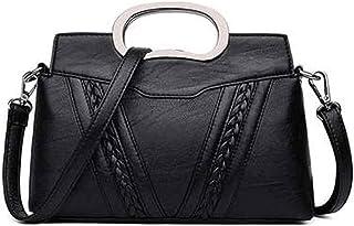 angelHJQ PU Handtasche, Handtaschen für Frauen, Frauen Umhängetaschen PU-Leder Handtaschen Top-Griff-Geldbörse (Farbe: Sch...