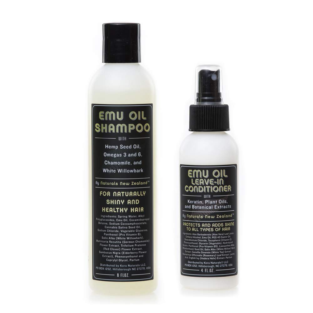 Mail order cheap Very popular! Emu Oil Shampoo and Leave-in Conditioner Sulfate Set S Free with