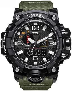 Men Watch, MINIFOCUS Chronograph Waterproof Sport Analog Quartz Watches Blue Silicon Strap Fashion Wristwatch for Men(Extra Battery) …