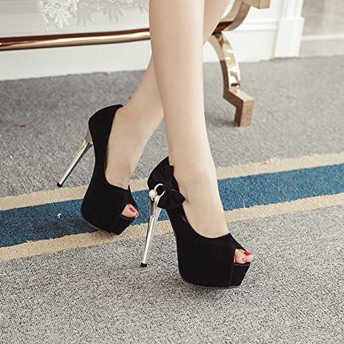 GTVERNH 14 Cm Hoch Mit chaussures Mit Dünnen Sexy Nachtclubs Fliege Das Wasser Bohren Fisch Mund chaussures Einzelne chaussures