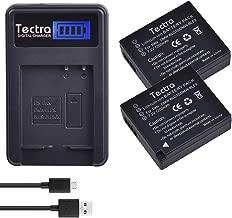 Tectra 2-Pack DMW-BLG10 DMW-BLE9 Battery and LCD USB Charger for Panasonic Lumix DMC-GX85, DMC-ZS60, DMC- ZS100, DMC-GX7, DMC-LX100, DMC-GF3, DMC-GF5, DMC-GF6 Cameras