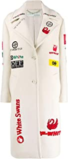 OFF-WHITE Luxury Fashion Womens OWEA179E19A640820288 White Coat | Fall Winter 19