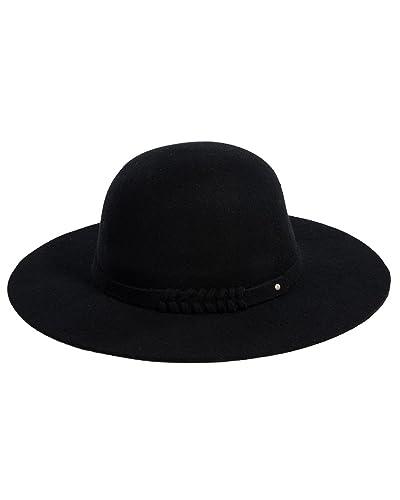 4deeb8b4 Wide Brim Black Hat: Amazon.com