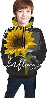 Cyloten Kid's Sweatshirt You are My Sunflower Novelty Hoodies Comfortable Warm Hooded Top Sweatshirt