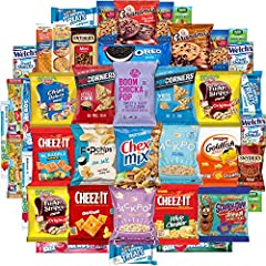 Snack Chest Bulk Sampler Includes An Assortment Of 40 Savory Snacks In A Snack Chest Gift Box Includes Ultimate Recipes With Chips Booklet By Snack Chest Perfect Care Package Gift To Send Snack Chest Builds Unique & Delicious Bundles Of Goodies For E...
