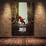 N / A Joaquin Phoenix Poster Stampe Joker Poster Film Arte Tela Pittura a Olio Quadri murali per Soggiorno Decorazioni per la casa50x75cm
