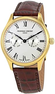 Frederique Constant Men's Classic Yellow Gold Leather Strap Watch FC259WR5B5