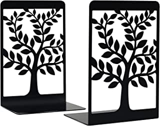 Bookends, Book Ends, Home Decorative Bookends, Bookends for Shelves, Metal Bookends, Bookends for Heavy Books, Tree of Lif...