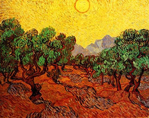 supmsds DIY-Digitale Zeichnung Repliken von Van Goghs berühmter Gemäldeserie 20 Nach Zahlen Kits Ölfarbe Zeichnung Farbe Geschenke für Kinder und Erwachsene